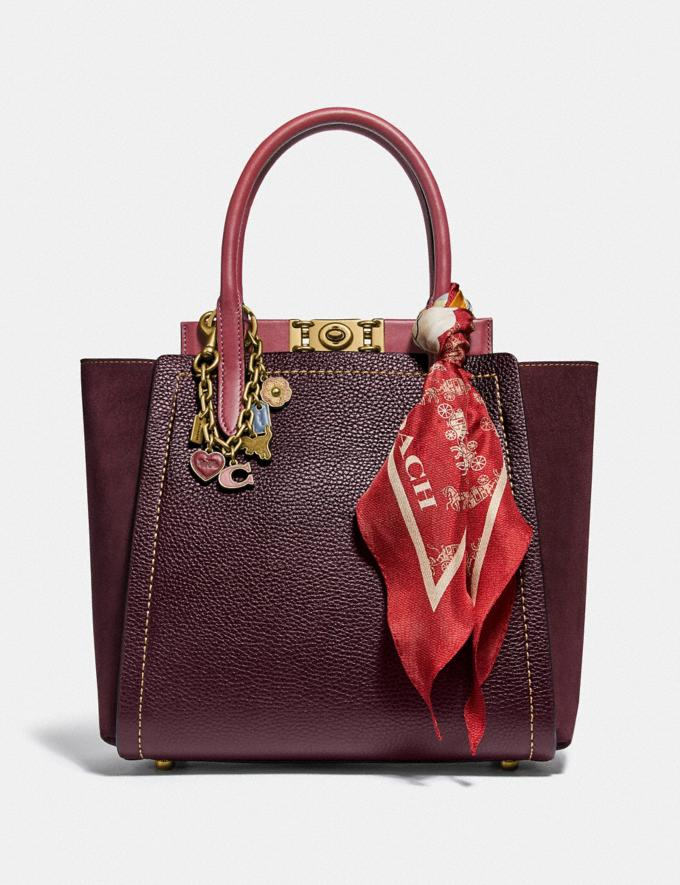 Coach Troupe Tote in Colorblock Vintage Mauve Multi/Brass New Women's New Arrivals Collection Alternate View 3