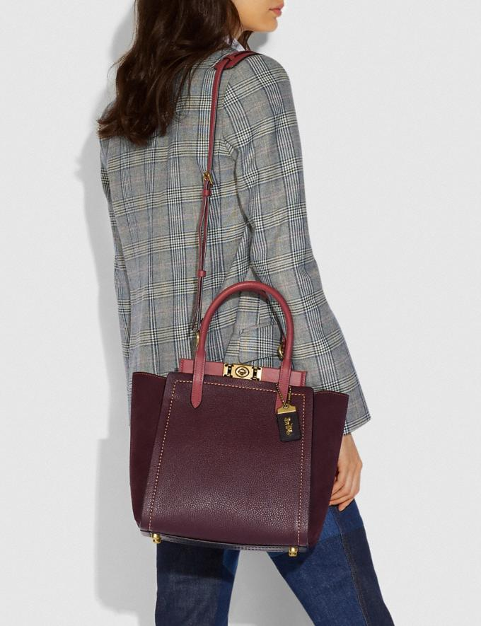 Coach Troupe Tote in Colorblock Vintage Mauve Multi/Brass Personalise For Her Alternate View 4