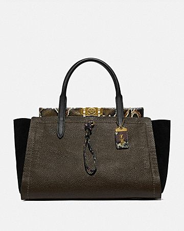 TROUPE CARRYALL 35 IN COLORBLOCK WITH SNAKESKIN DETAIL