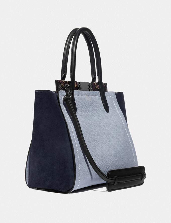 Coach Troupe Tote in Colorblock With Snakeskin Detail Mist Multi/Pewter Women Handbags Satchels & Top Handles Alternate View 1