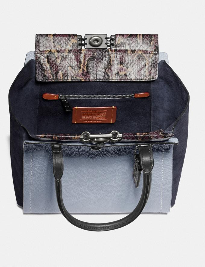 Coach Troupe Tote in Colorblock With Snakeskin Detail Mist Multi/Pewter New Women's New Arrivals Collection Alternate View 2