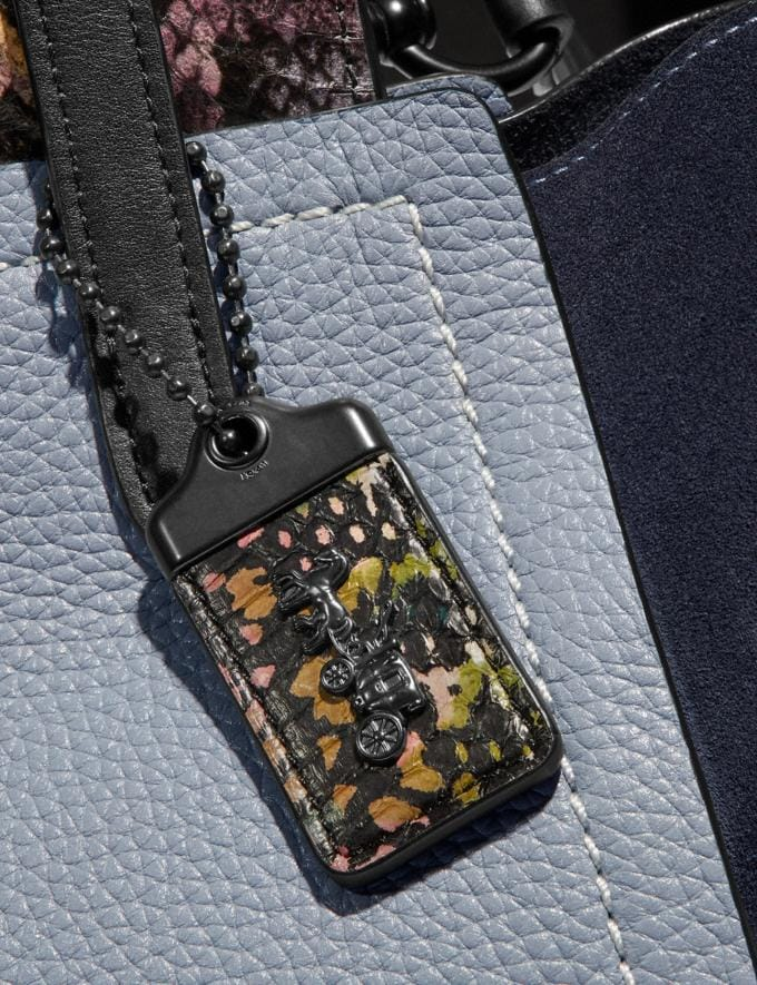 Coach Troupe Tote in Colorblock With Snakeskin Detail Mist Multi/Pewter New Women's New Arrivals Collection Alternate View 4