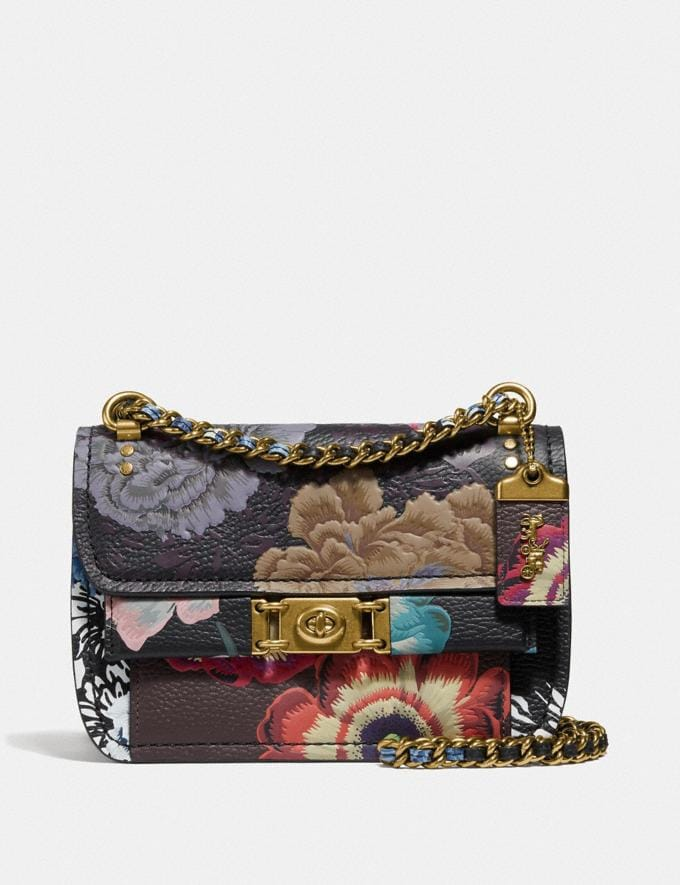 Coach Troupe Crossbody With Kaffe Fassett Print Black Multi/Brass Seasonal Offers Women Bags