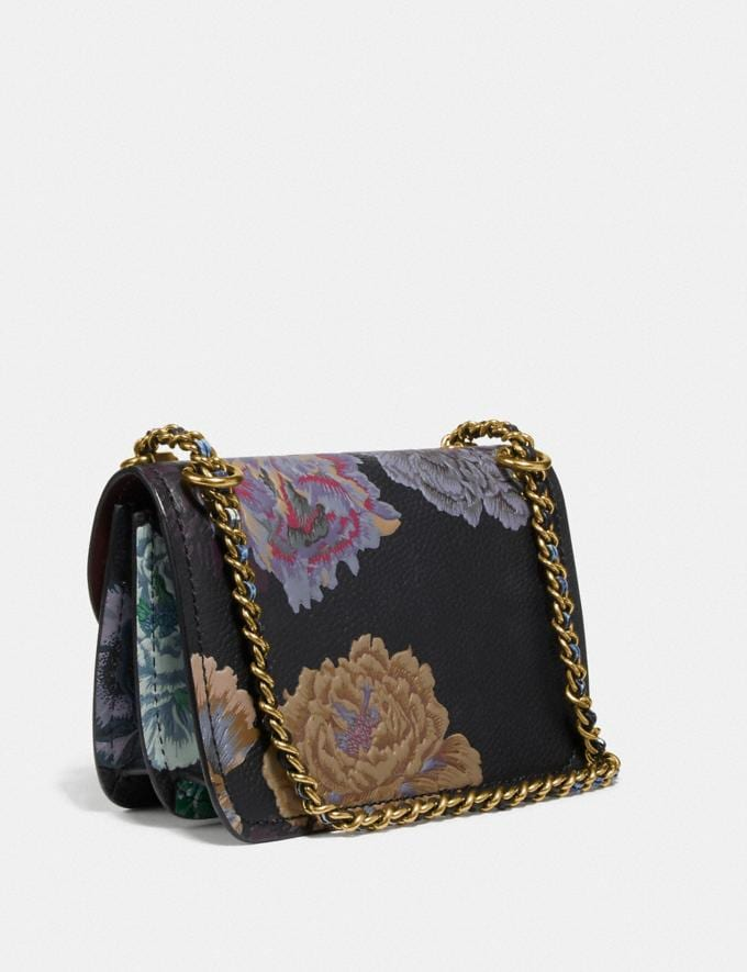 Coach Troupe Crossbody With Kaffe Fassett Print Black Multi/Brass Seasonal Offers Women Bags Alternate View 1