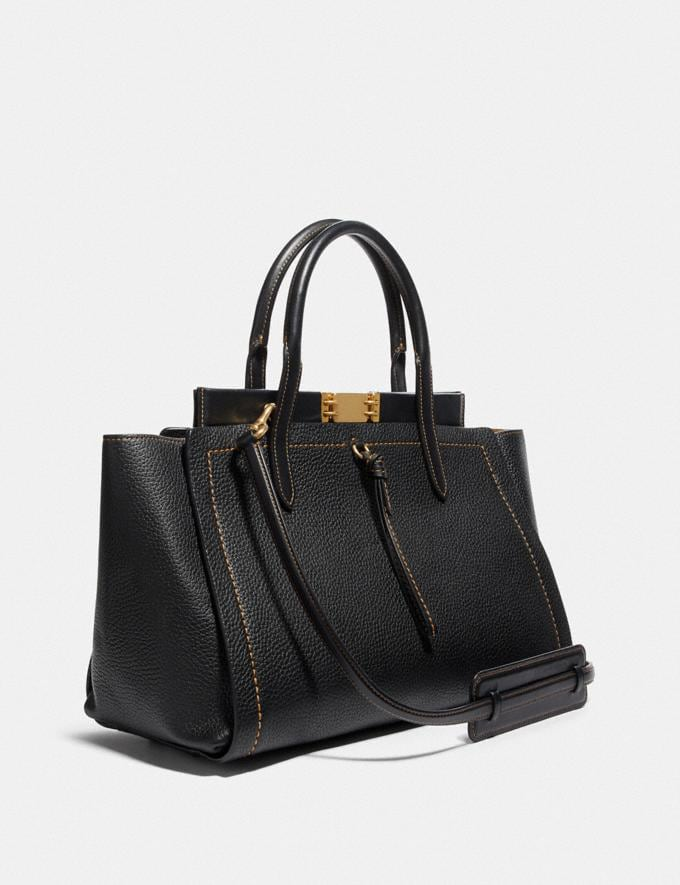 Coach Troupe Carryall 35 Black/Brass Cyber Monday Women's Cyber Monday Sale Bags Alternate View 1