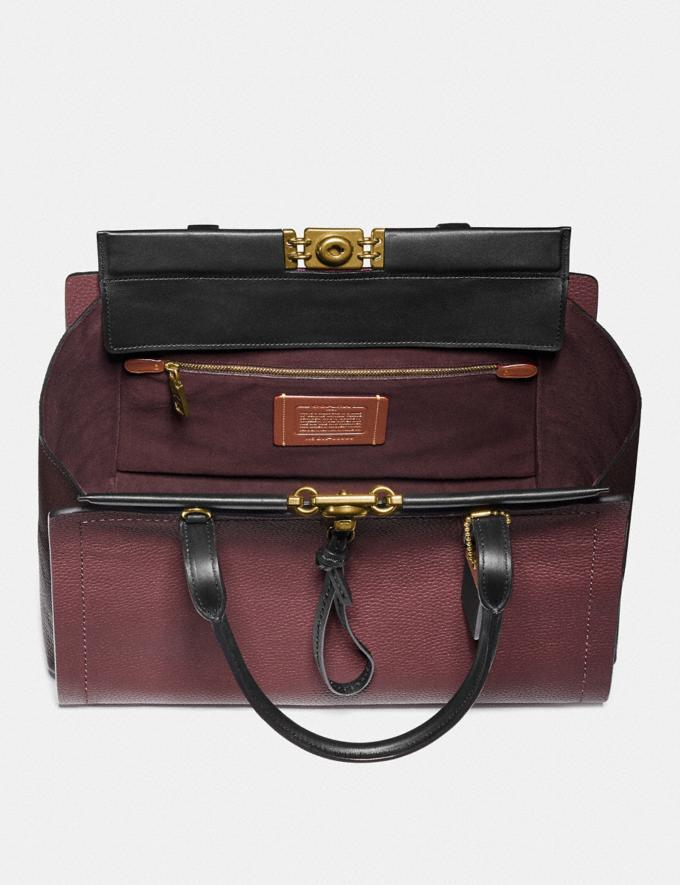 Coach Troupe Carryall 35 in Colorblock Vintage Mauve Multi/Brass Women Bags Satchels Alternate View 2
