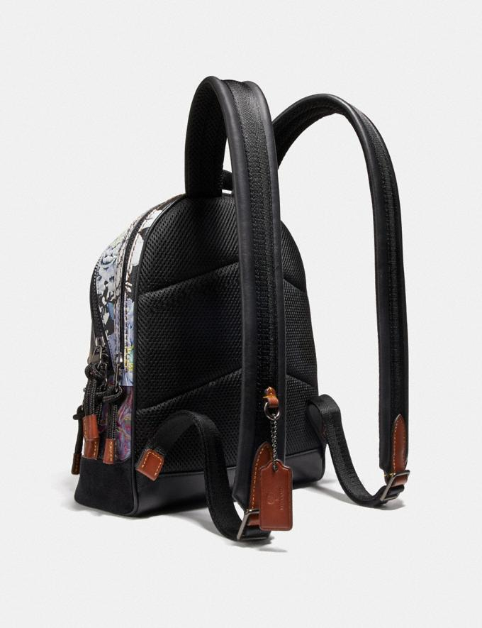 Coach Academy Backpack 23 With Kaffe Fassett Print Black Multi/Pewter New Women's New Arrivals Collection Alternate View 1