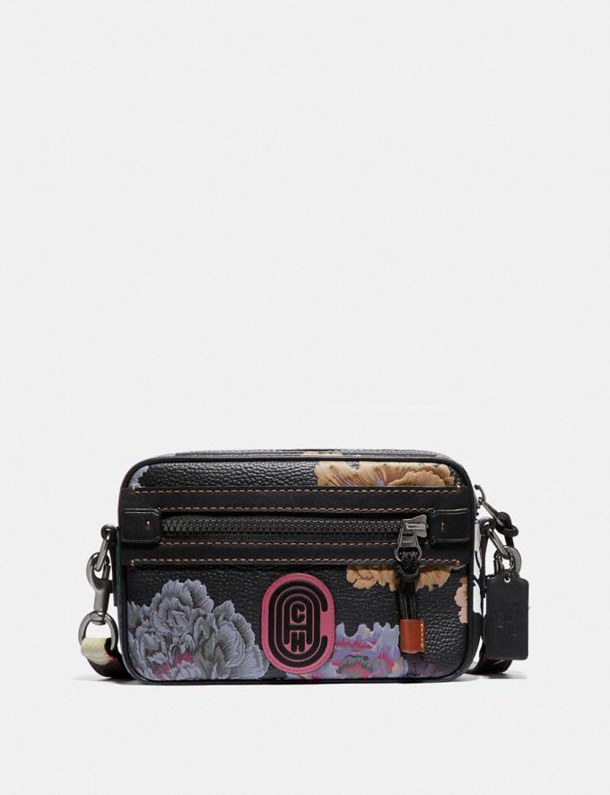 Coach Academy Crossbody With Kaffe Fassett Print Black Multi/Pewter New Women's New Arrivals Collection