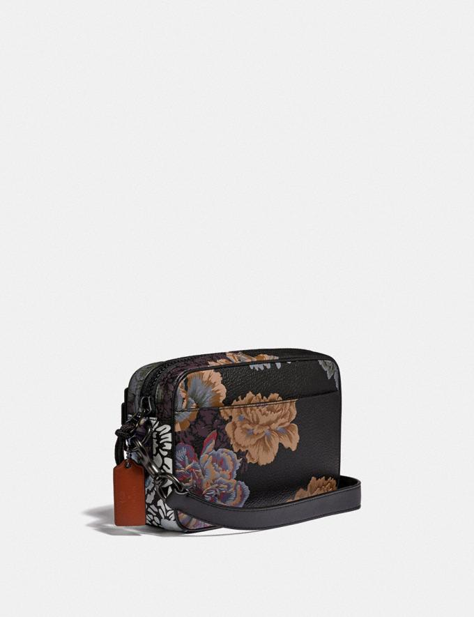 Coach Academy Crossbody With Kaffe Fassett Print Black Multi/Pewter New Women's New Arrivals Collection Alternate View 1