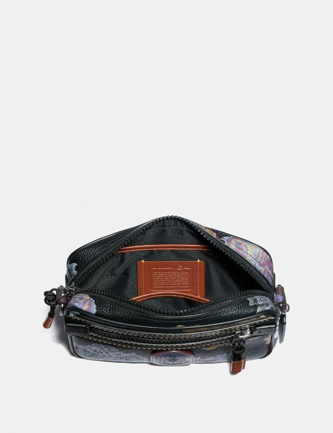 Coach Academy Crossbody With Kaffe Fassett Print Black Multi/Pewter New Women's New Arrivals Collection Alternate View 2