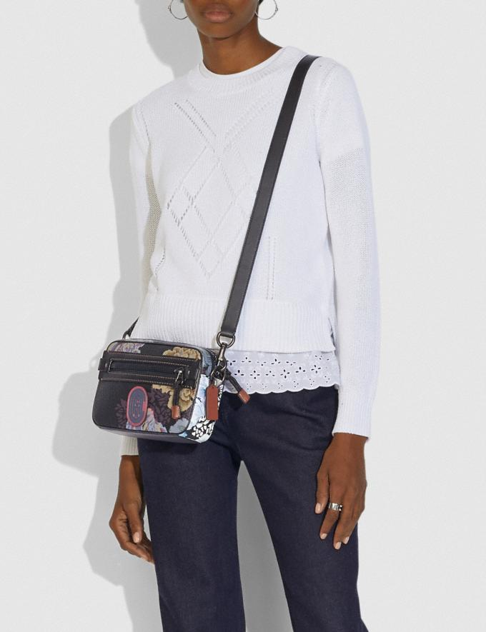 Coach Academy Crossbody With Kaffe Fassett Print Black Multi/Pewter New Women's New Arrivals Collection Alternate View 3