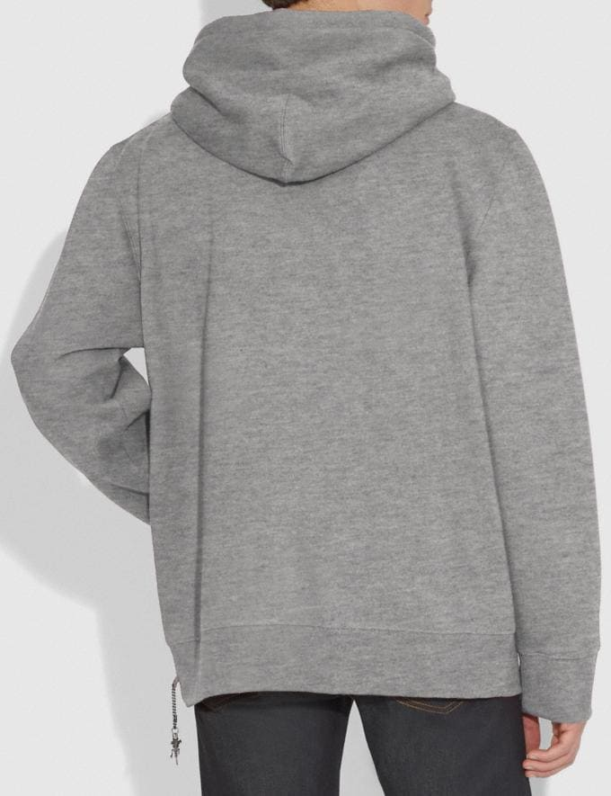 Coach Rexy Hoodie Heather Grey/Heather Grey  Alternate View 2