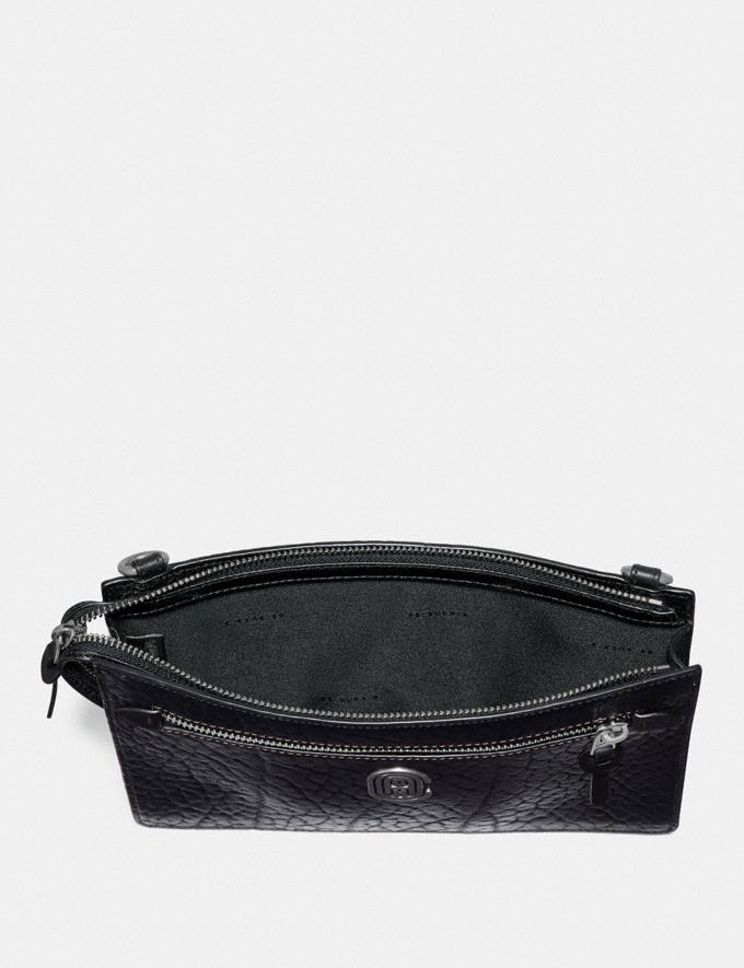 Coach Rivington Convertible Pouch With Coach Patch Black  Alternate View 1