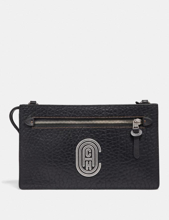 Coach Rivington Convertible Pouch With Coach Patch Black Cyber Monday Men's Cyber Monday Sale Accessories