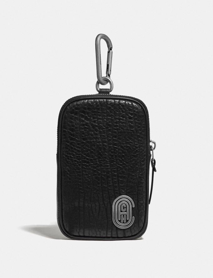 Coach Hybrid Pouch 10 With Coach Patch Black