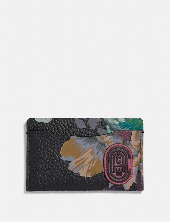 Coach Small Card Case With Kaffe Fassett Print Pewter/Black Multi New Women's New Arrivals Collection