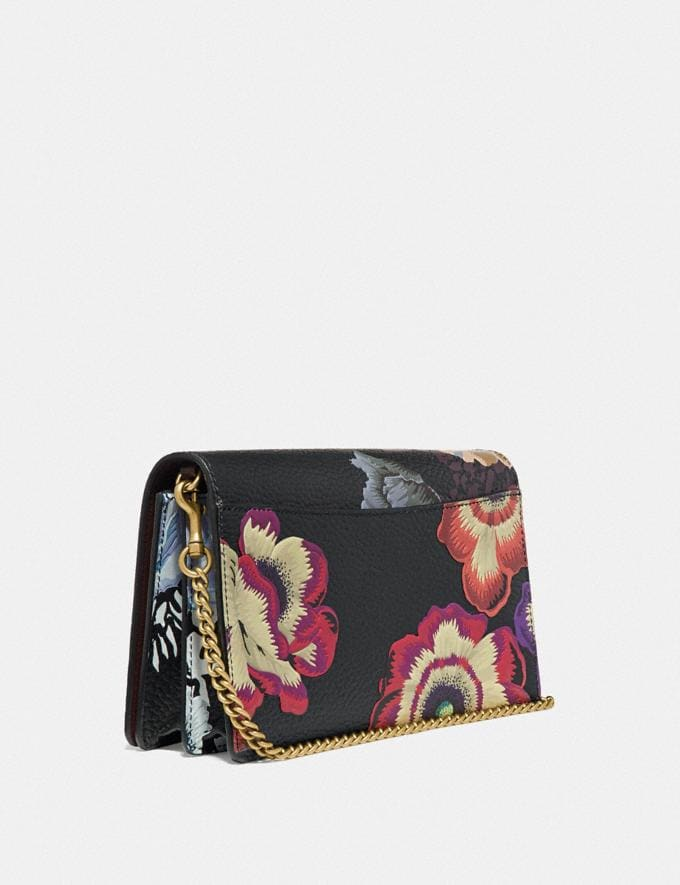 Coach Callie Foldover Chain Clutch With Kaffe Fassett Print Black Multi/Brass Cyber Monday Online Only Cyber Monday Sale Bags Alternate View 1