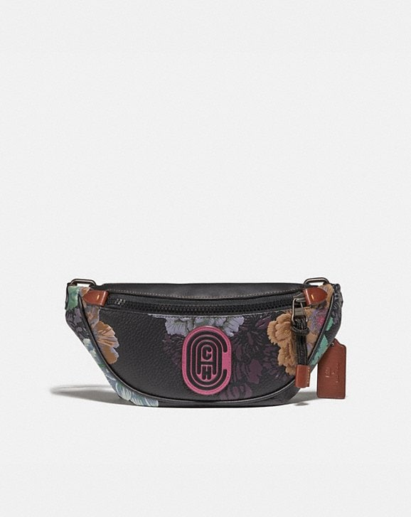 Coach MINI RIVINGTON BELT BAG WITH KAFFE FASSETT PRINT