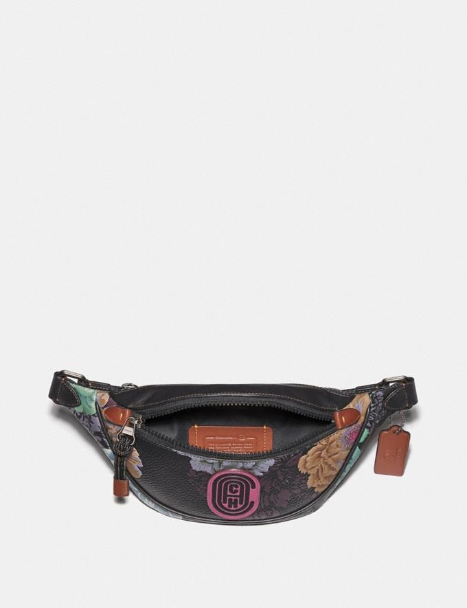 Coach Mini Rivington Belt Bag With Kaffe Fassett Print Black Multi/Pewter New Women's New Arrivals Collection Alternate View 2