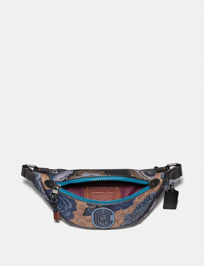Coach Mini Rivington Belt Bag in Signature Canvas With Kaffe Fassett Print V5/Tan Blue Multi  Alternate View 2
