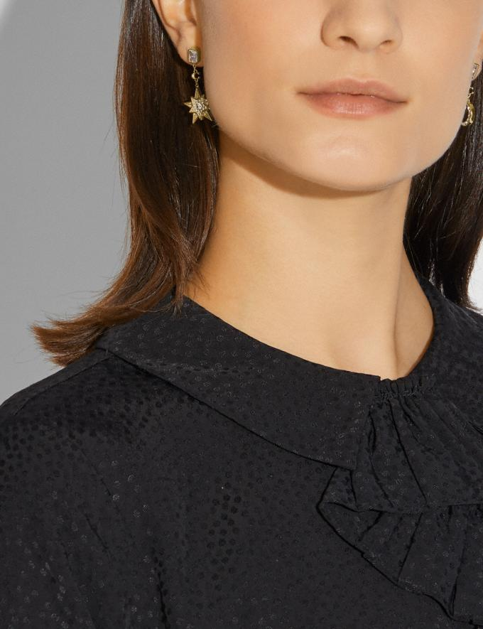 Coach Signature Moonstar Drop Earrings Gold/Crystal Women Accessories Jewellery Earrings Alternate View 1