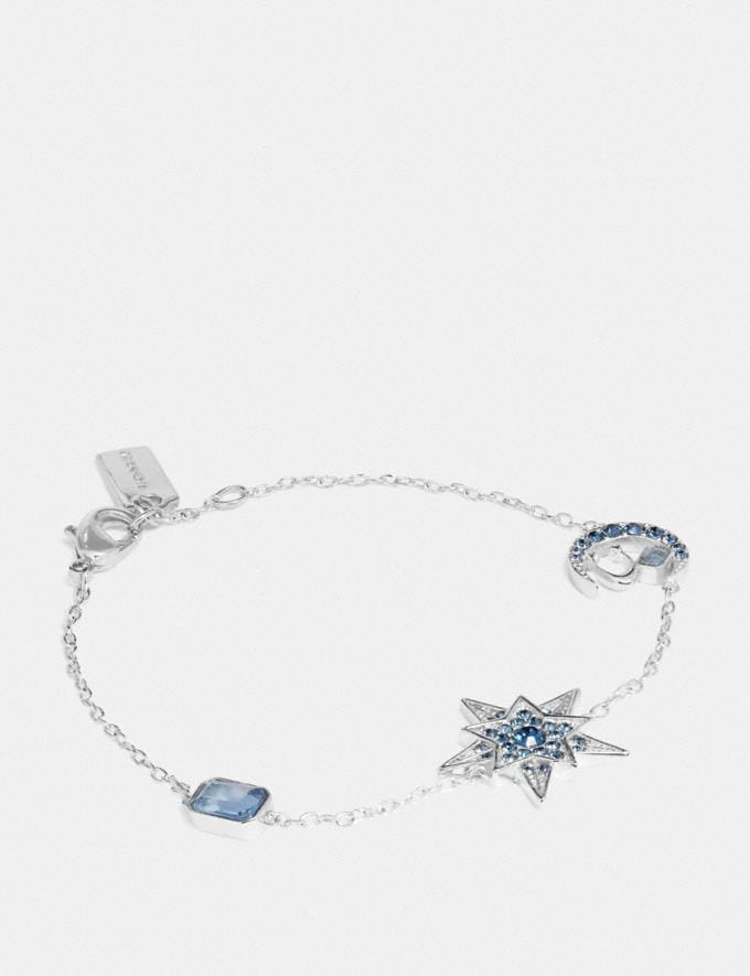 Coach Signature Moonstar Bracelet Silver/Blue Women Accessories Jewelry & Watches