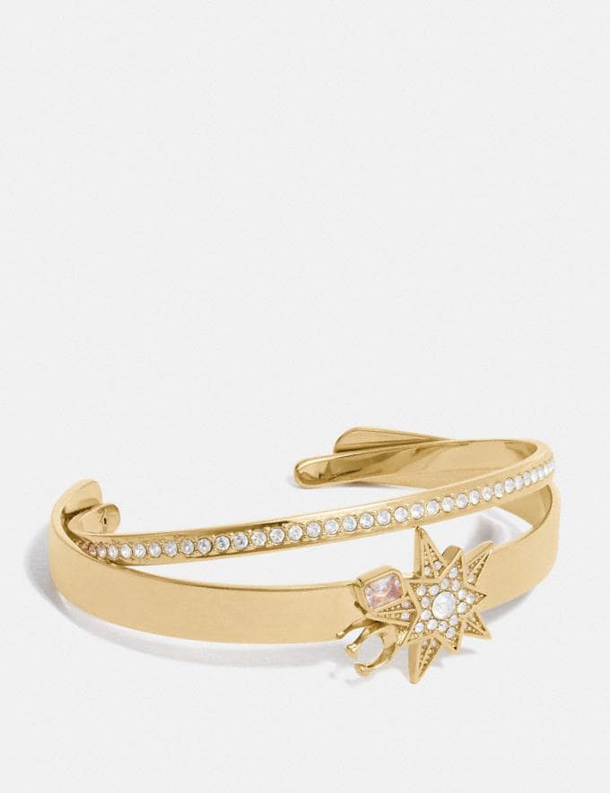 Coach Signature Star Bangle Set Gold/Crystal