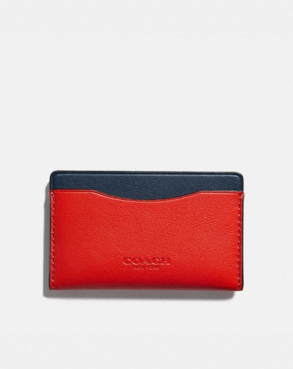 Coach SMALL CARD CASE IN COLORBLOCK