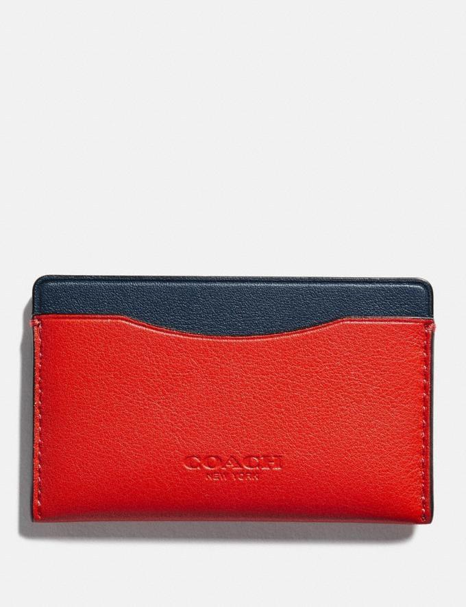 Coach Small Card Case in Colorblock Red Orange Multi