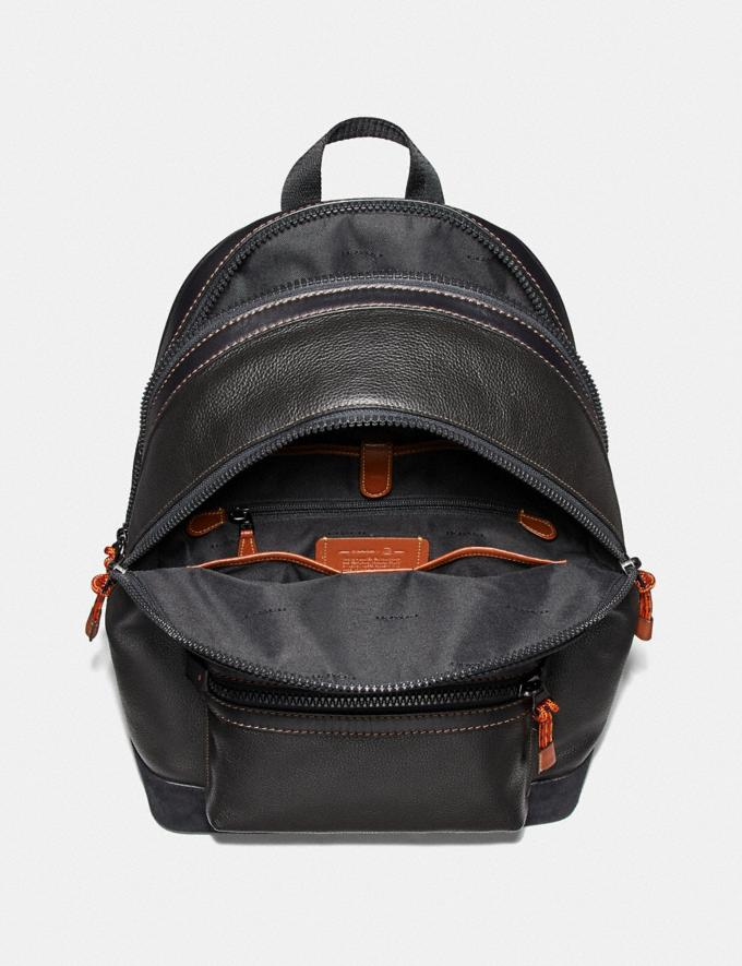 Coach Academy Backpack With Kaffe Fassett Coach Patch Black/Black Copper New Men's New Arrivals Collection Alternate View 2