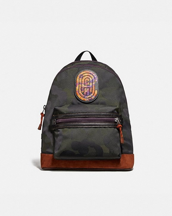 Coach ACADEMY BACKPACK WITH WILD BEAST PRINT AND KAFFE FASSETT COACH PATCH