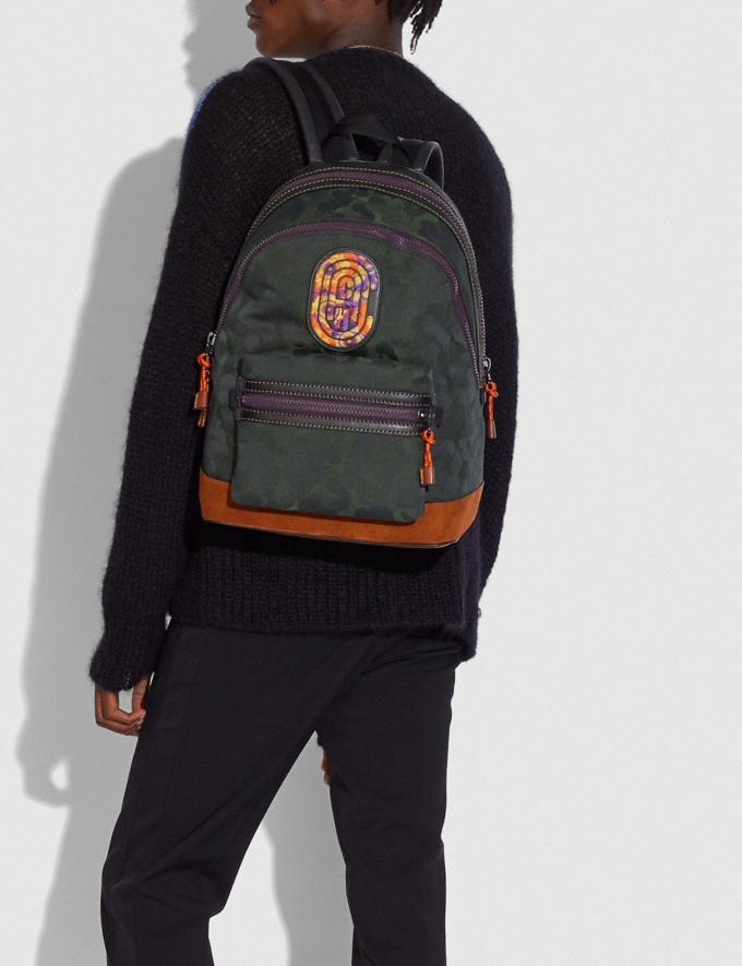 Coach Academy Backpack With Wild Beast Print and Kaffe Fassett Coach Patch Ji/Military Wild Beast  Alternate View 3