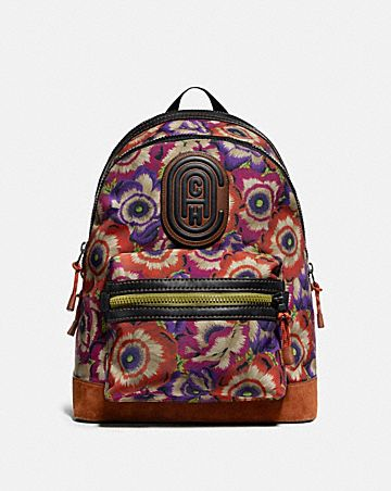 ACADEMY BACKPACK WITH KAFFE FASSETT PRINT AND COACH PATCH