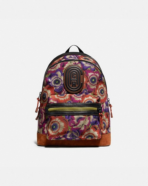 Coach ACADEMY BACKPACK WITH KAFFE FASSETT PRINT AND COACH PATCH