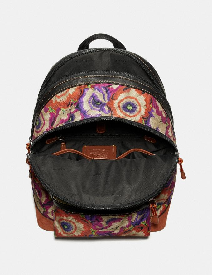 Coach Academy Backpack With Kaffe Fassett Print and Coach Patch Orange/Purple/Black Copper New Men's New Arrivals Bags Alternate View 2