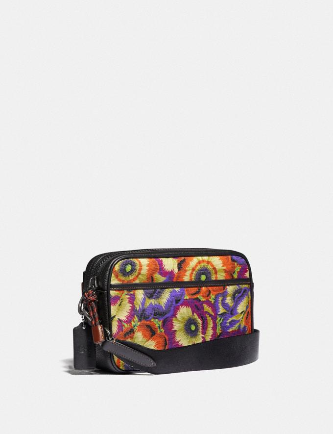 Coach Academy Crossbody With Kaffe Fassett Print and Coach Patch Orange/Purple/Black Copper New Men's New Arrivals Collection Alternate View 1