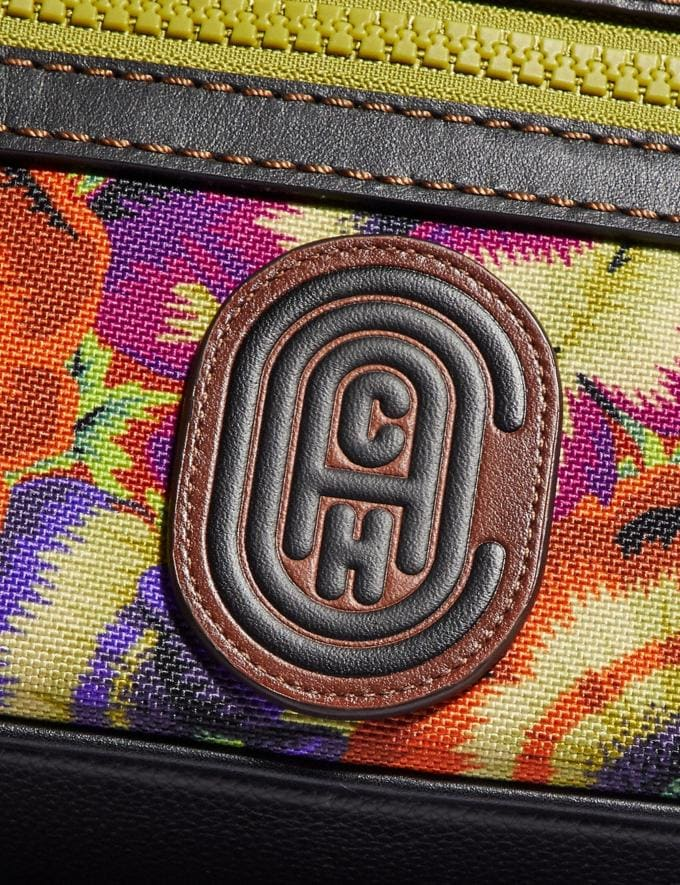 Coach Academy Crossbody With Kaffe Fassett Print and Coach Patch Orange/Purple/Black Copper New Men's New Arrivals Collection Alternate View 4