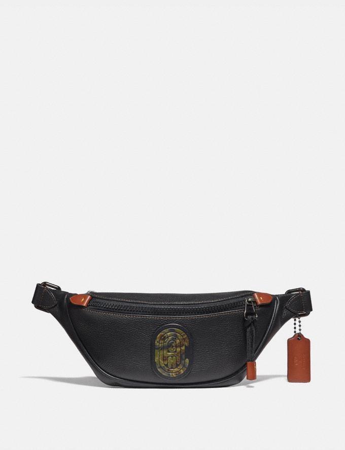 Coach Rivington Belt Bag 7 With Kaffe Fassett Coach Patch Black/Black Copper 30% off Select Full-Price Styles