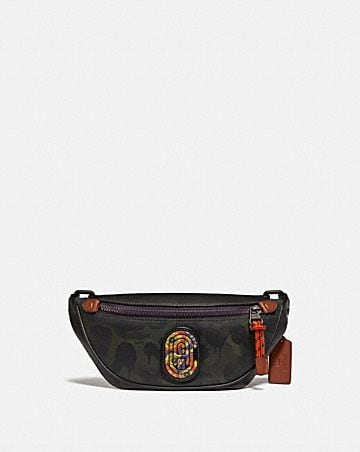 RIVINGTON BELT BAG 7 WITH WILD BEAST PRINT AND KAFFE FASSETT COACH PATCH