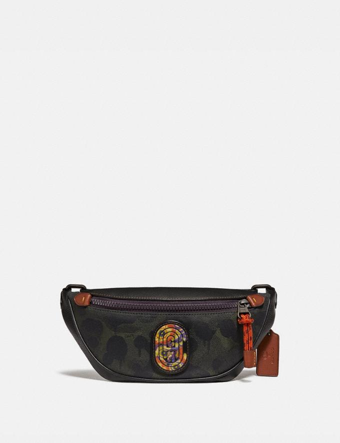 Coach Rivington Belt Bag 7 With Wild Beast Print and Kaffe Fassett Coach Patch Military Wild Beast/Black Copper New Men's New Arrivals Collection