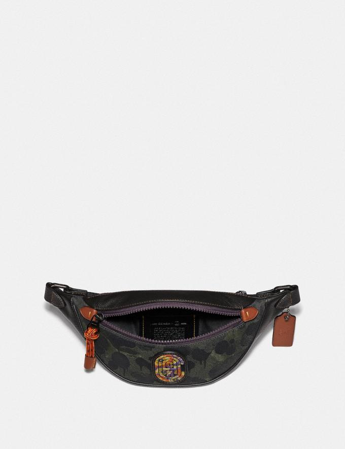 Coach Rivington Belt Bag 7 With Wild Beast Print and Kaffe Fassett Coach Patch Military Wild Beast/Black Copper New Men's New Arrivals Collection Alternate View 2