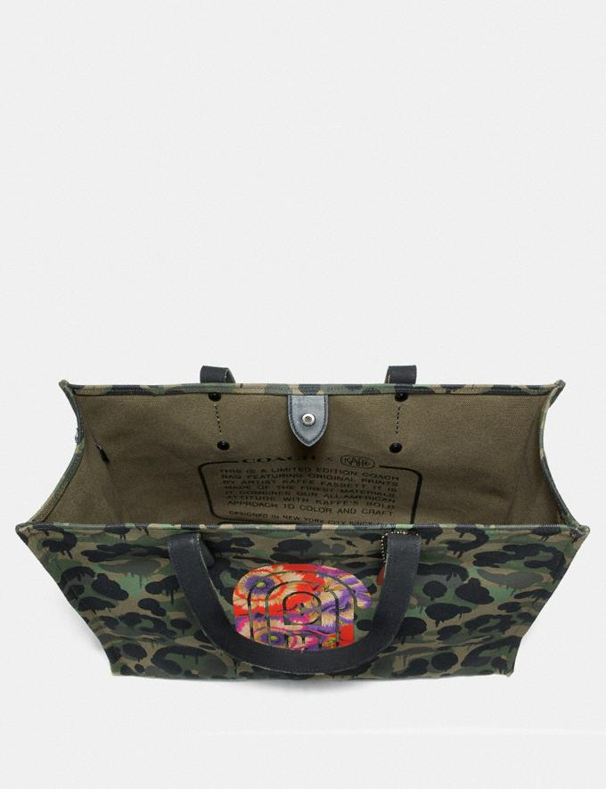 Coach Tote 42 With Wild Beast Print and Kaffe Fassett Coach Patch Military Wild Beast/Black Copper New Men's New Arrivals Collection Alternate View 2