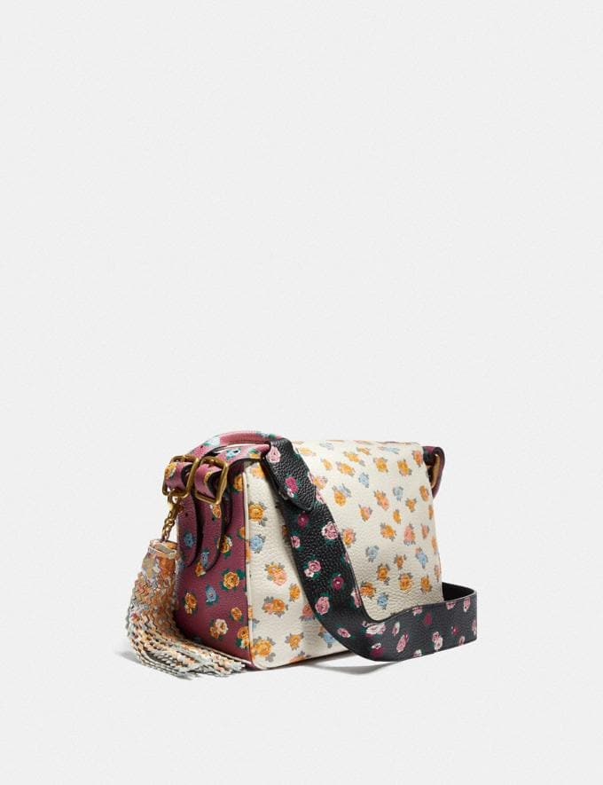 Coach Coach X Tabitha Simmons Crossbody in Colorblock With Meadow Rose Print B4/Black Multi Women Bags Crossbody Bags Alternate View 1