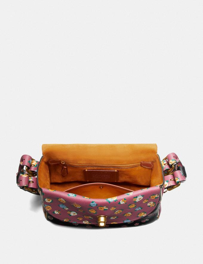 Coach Coach X Tabitha Simmons Crossbody in Colorblock With Meadow Rose Print B4/Black Multi Women Bags Crossbody Bags Alternate View 2