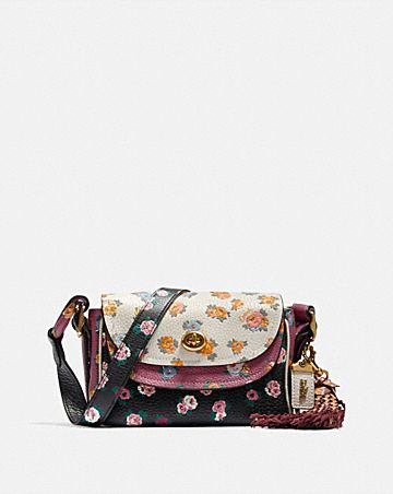SAC 17 À BANDOULIÈRE COACH X TABITHA SIMMONS EN COLOR BLOCK AVEC UN IMPRIMÉ MEADOW ROSE