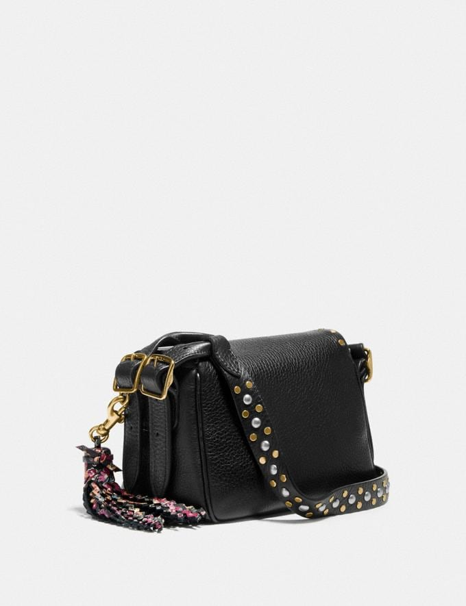 Coach Coach X Tabitha Simmons Crossbody 17 With Rivets Black/Brass Women Bags Crossbody Bags Alternate View 1