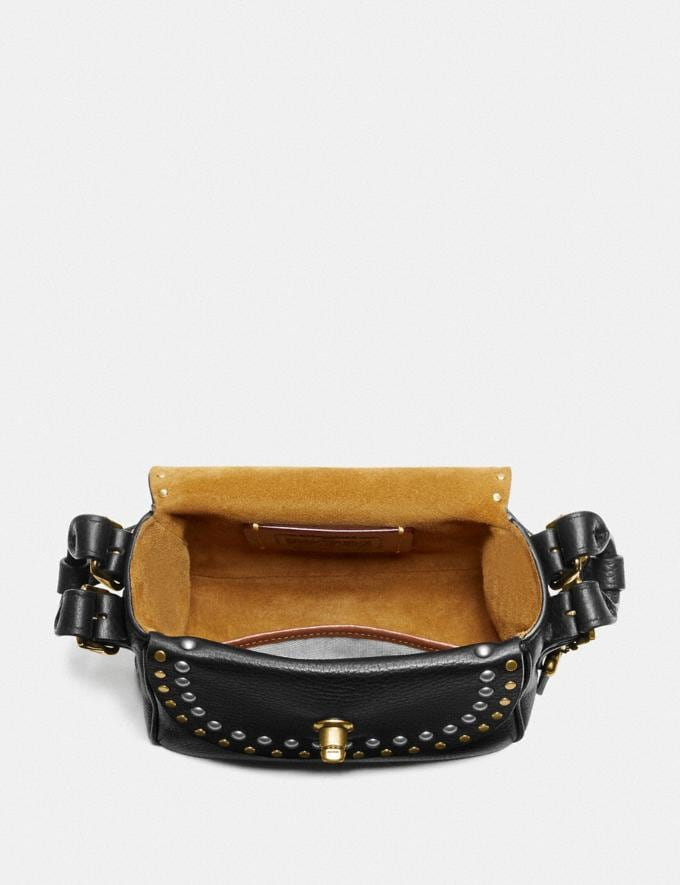 Coach Coach X Tabitha Simmons Crossbody 17 With Rivets Black/Brass Women Bags Crossbody Bags Alternate View 2