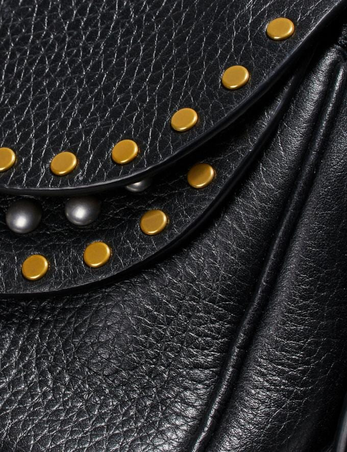 Coach Coach X Tabitha Simmons Crossbody 17 With Rivets Black/Brass Women Bags Crossbody Bags Alternate View 4