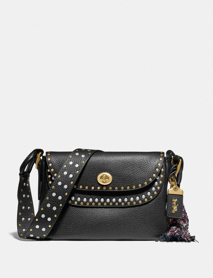 Coach Coach X Tabitha Simmons Crossbody With Rivets Black/Brass Cyber Monday