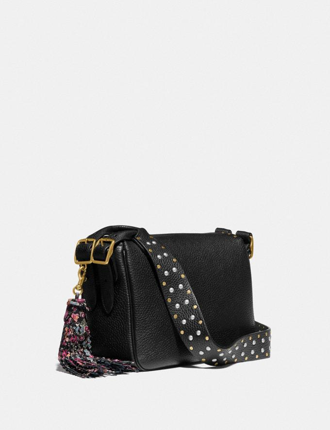 Coach Coach X Tabitha Simmons Crossbody With Rivets Black/Brass New Featured Coach X Tabitha Simmons Alternate View 1